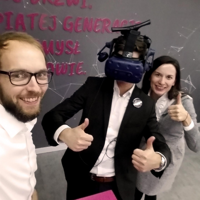 Jens von World Of VR mit unserem Kunden, der Telekom.