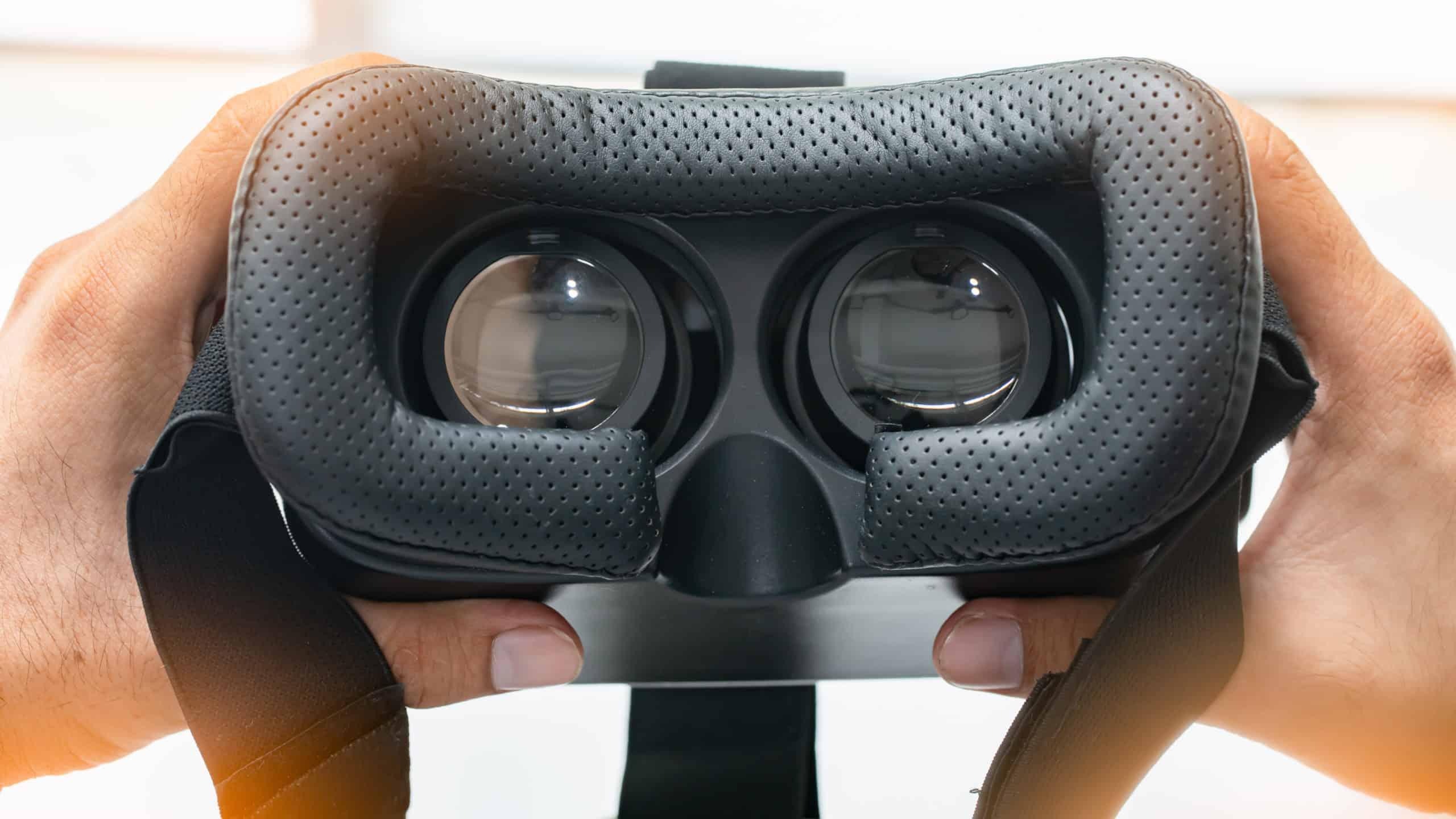 VR-Brille closeup