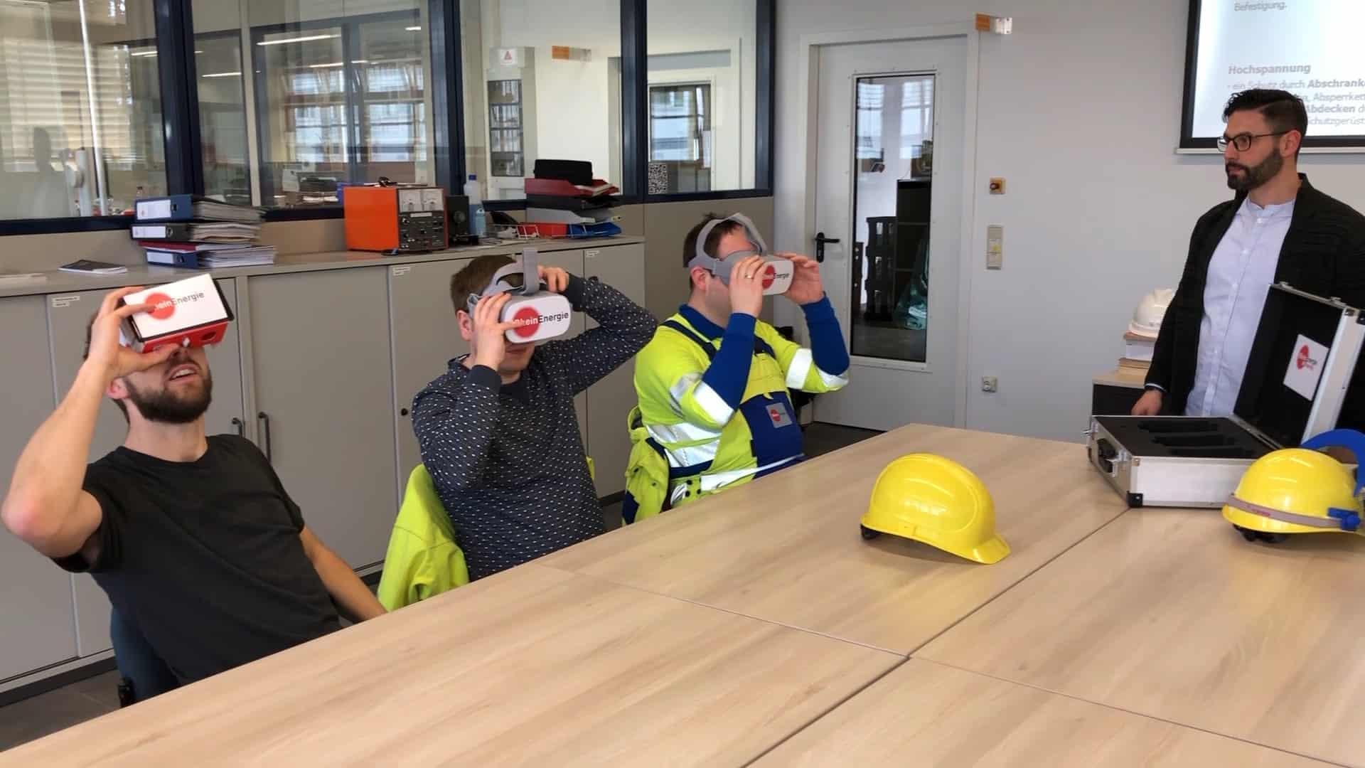 Jens von World of VR mit unserem Partner, der Rheinenergie